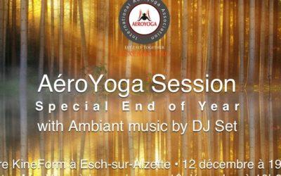 AéroYoga Session et fête de fin d'année avec musique d'ambiance DJ Set